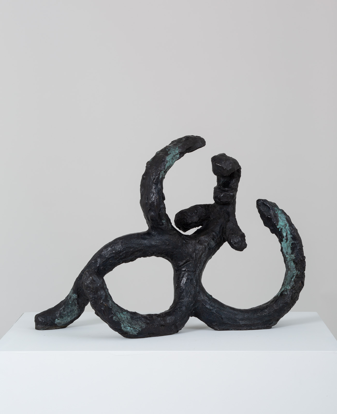 <em>woman reclining I</em>, 2017<br>Bronze<br>13 x 16 1/8 x 8 3/4 inches (33 x 41 x 22.2 cm)