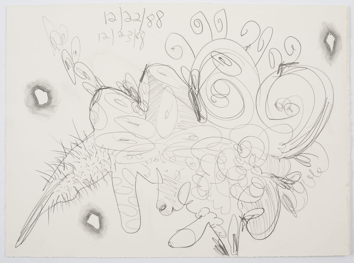 <i>Untitled (12/22/88, 12/23/88)</i>, 1988, pencil on paper,14 1/8 x 19 3/4 inches (35.9 x 50.2 cm)