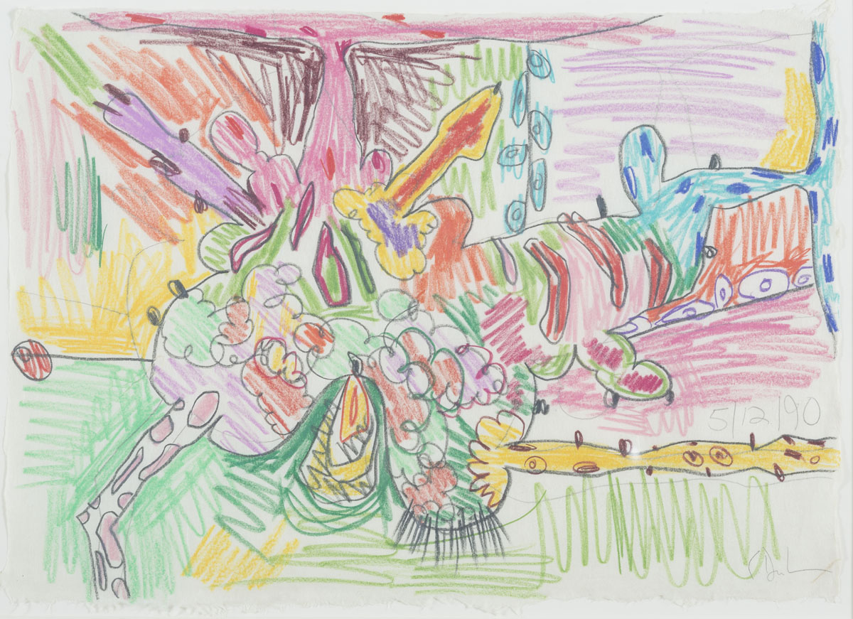 <i>Untitled (5/12/90)</i>, 1990, colored pencil and pencil on paper,12 1/4 x 17 1/4 inches (31.1 x 43.8 cm)