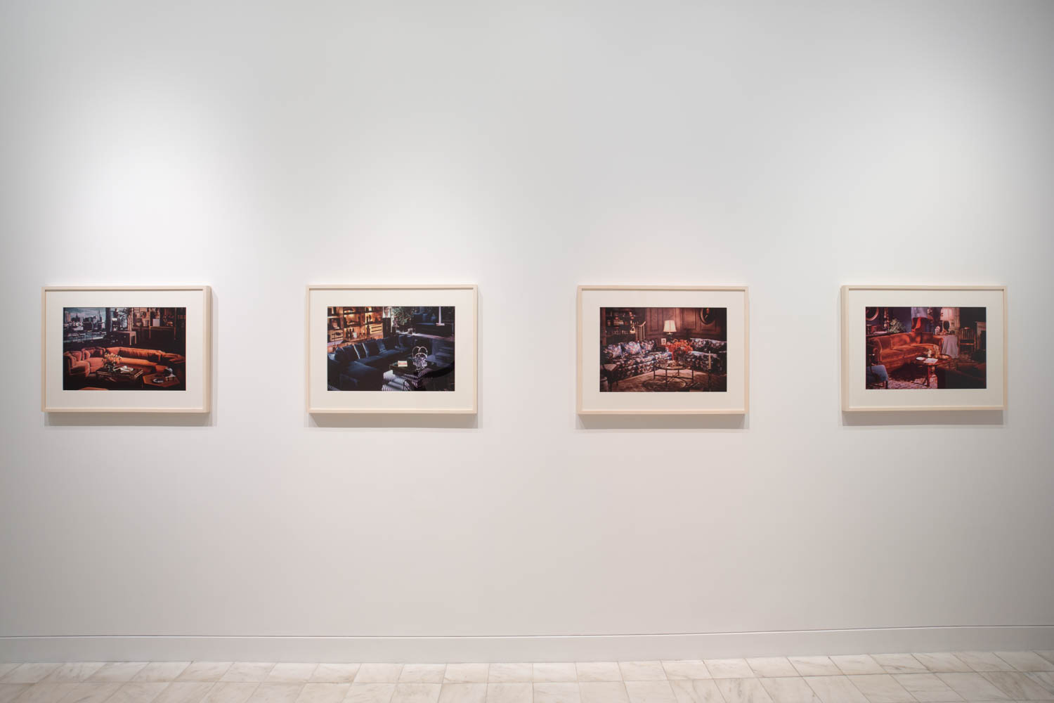 Richard Prince<div><i>Untitled (Living rooms), </i>1977</div><div>Four ektacolor photographs</div><div>20 x 24 inches each(50.8 x 61 cm each)</div>