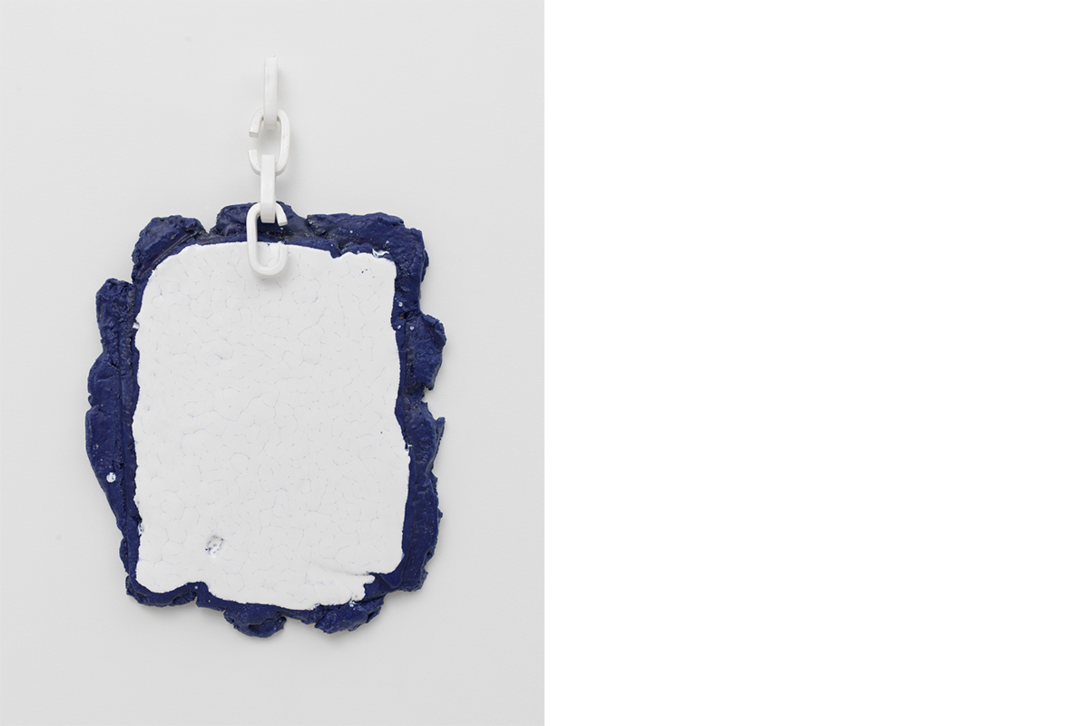Rosemarie Trockel, <i>Prisoner of Yourself</i>, 2016. Glazed ceramic, 23 x 19 x 2 inches (58 x 48 x 5 cm).© Rosemarie Trockel.